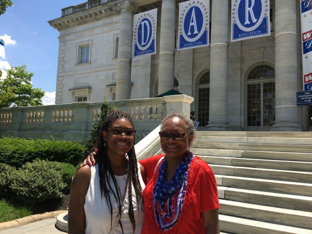 Dymond and Deborah Bush at NSDAR headquarters